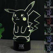2 Pokemon Acrylic Lamps for Kids Pikachu and Charmander Angle Park Port Adelaide Area Preview