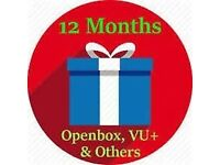 12/6 MONTH GIFT CABLE VM OPENBOX ZGEMMA MAGBOX MANY MORE!!