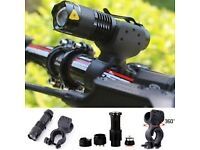 x2 Cree q5 zoomable led light 3 mode waterproof zoomable