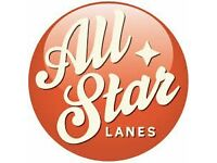 Vacancy for a Full Time Server at All Star Lanes