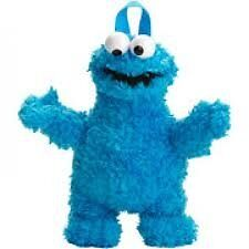 Sesame-Street-Cookie-Monster-Plush-Doll-Backpack-With-Zipped-Pocket-Must-L-K