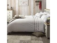 Dunelm Gingham Hearts Curtains and Bedding