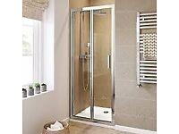 NEW - 760mm Bifold Easy Clean 6mm Glass Shower Enclosure Reversible Folding Door