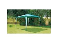 Square Large Garden Gazebo - green