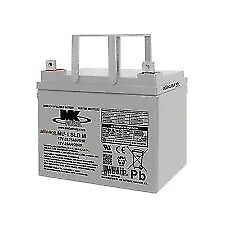 mk mobility batterys 34 amp ones 12v ready to use x2