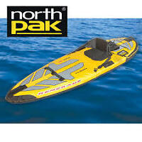 North Pak Renegade Inflatable Kayak Set - Excellent condition