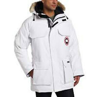 Canada Goose Sz S Men's white expedition parka R -$925 only $400
