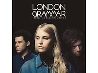 2x London Grammar Tickets Leeds o2 Academy wed 18th oct just £50 for both!