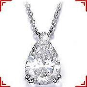 Pear Diamond Necklace