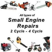 Traveling small engine repair $40 first hour $20 additional hour
