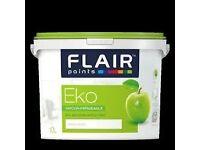 Flair Eko Hypo-Allergenic White and Magnolia acrylic Paint for sale