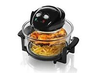 Tower Halogen Healthy Oil Free Air Fryer, 1300 W, 17 L Black, Oven Cooker