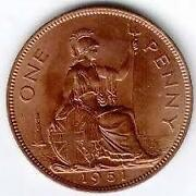 One Penny Coin 1967