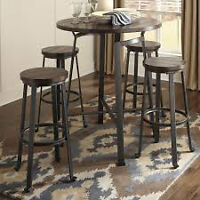 NEW PRICE!!! Pub Style Table & 4 Bar Stools Ashley Furniture