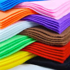Felt comes in many colours