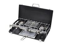 L P Gas Dual Burners and Grill