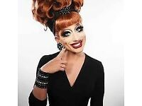 Excellent view tickets for Bianca del Rio at Usher Hall Edinburgh 21st July x 3