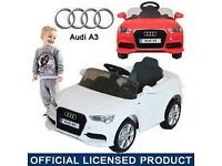 White audi a3 ride on kids car remote control christmas toy brilliant condition