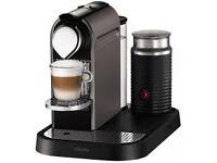 NESPRESSO KRUPS CITIZ&MILK TITANIUM COFFEE MACHINE