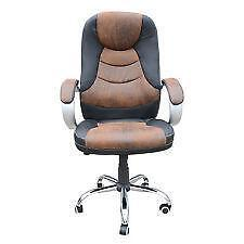 Awesome Brown Leather Office Chair
