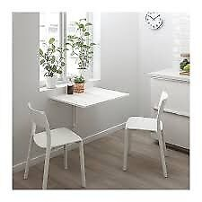 Exceptionnel Folding Desk Foldable Standing Desk White Ikea Wall Mounted Table Small  Home Studio Student Norberg