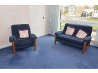 Sofa and big chair suite - good condition