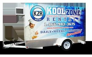 Refrigerated Coolers Freezers & Keg Coolers For Rent