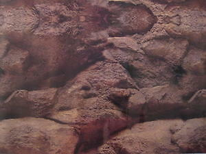 "ROCK CAVE FISH TANK 15"" BACKGROUND AQUARIUM TALL VIVARIUM TANKS DECORATE REPTILE"
