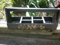 PLANTER A TOOL BOX?  OLD AND LOOKS GREAT  289-988-8088