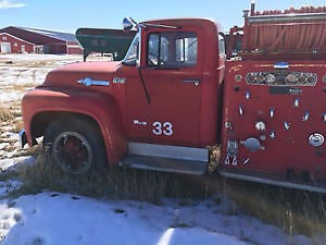 Beautiful Red Vintage 1956 Ford Pumper Fire Truck