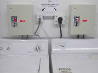 Electroic Coin Controlers - Washer and Dryer.