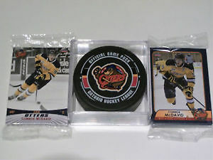 Connor McDavid Erie Otters 2 Pack Team Set & Game Puck Gift Pack Edmonton Edmonton Area image 1