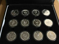 Pure Silver 12 Coin Astrological Collection