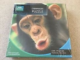 BBC Earth Chimpanzee Puzzle 500 piece jigsaw puzzle Brand new