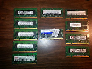 LAPTOP RAM !!! $ 5 AND UP !!!