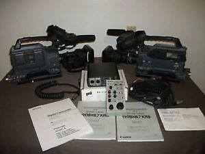 two sony dsr 370 brodcast cameras