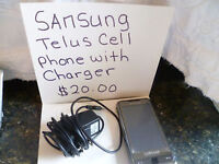Cell Phone with Charger - Samsung
