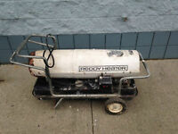 Used working Reddy brand Kerosene Forced Air Heater.