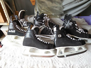 Used assorted hockey skates boys size 8 to adult size 12