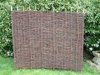 4 Willow hurdles approx 6ft wide x 5ft high