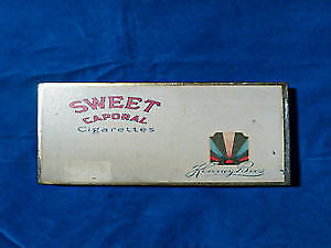 Sweet Caporal vintage antique tin box