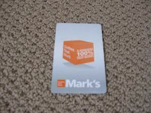 Gift Card for Marks Work Warehouse-3/4 of the price