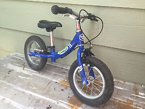 Great balance bike with brakes and mud tires