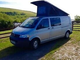 VW T5 Campervan LWB 2006 TDI pop top low mileage 71000k taxed, MOTD insured. Comp,etc conversion