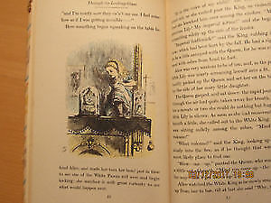 Rare Vintage Lewis Carroll Through the Looking Glass 1946 ed.