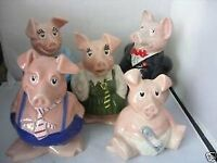 Wade Natwest Pigs (SET OF 5) EXCELLENT CONDITION for sale  Maidenhead, Berkshire