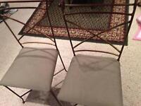 3 good condition wrought iron chairs! 3 for $30! TODAY ONLY!