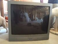 Sanyo CRT TV & FREEVIEW BOX (Goodmans), both remotes included
