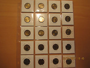 Set of 20 uncirculated Russian Hero Cities Rouble coins