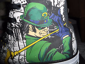 DC Comics The Riddler Converse Shoes